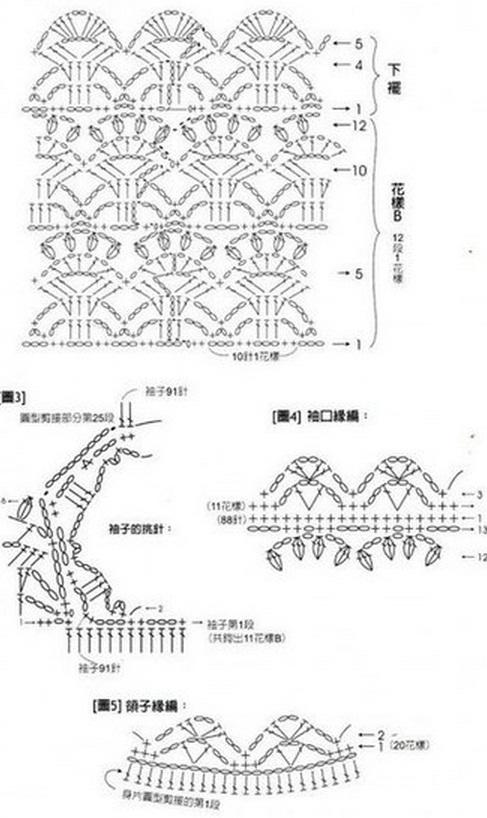 Схема пуловера крючком