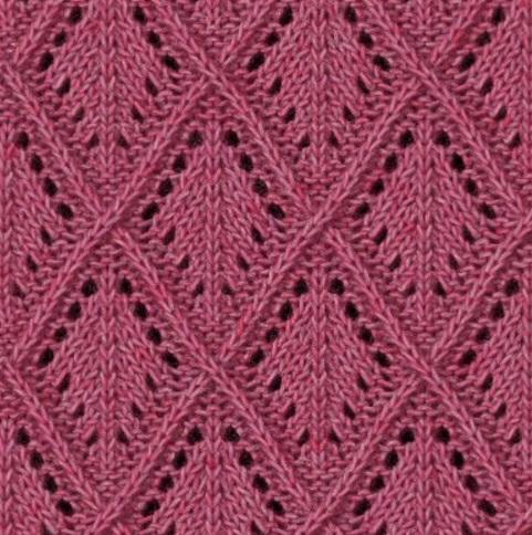 Вязание ажуров спицами