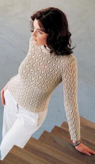 Вязание красивого пуловера