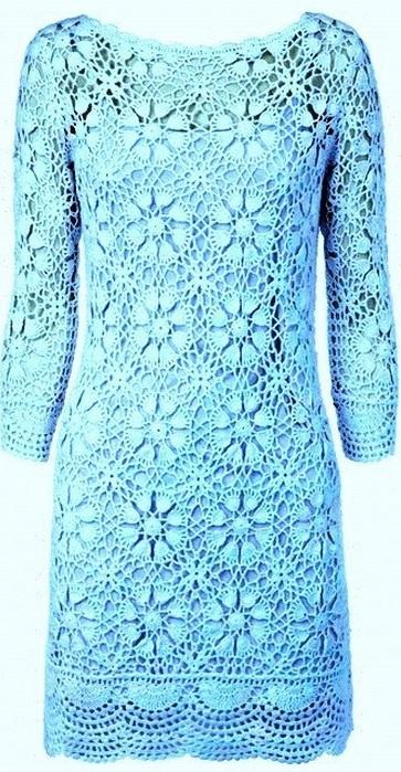 Платье из круглых мотивов