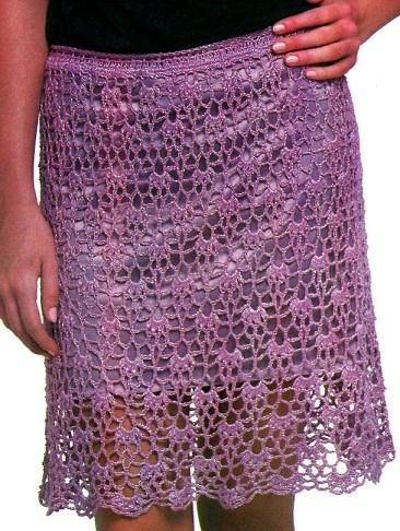 Вязание ажурной юбки крючком