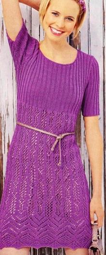 Ажурное платье-туника