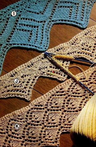 Вязание каймы спицами
