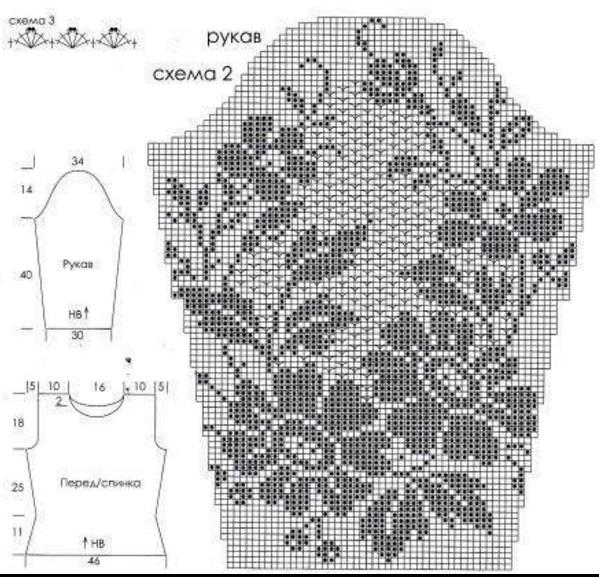 Вязание филейного платья крючком