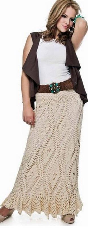 Схема длинной юбки