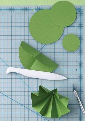Елочки из бумаги