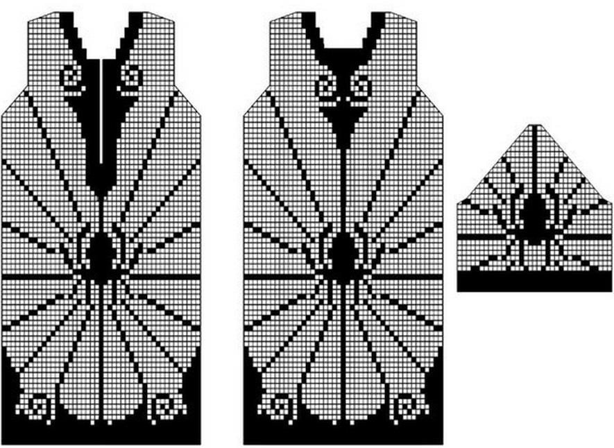 Схемы филеных туник