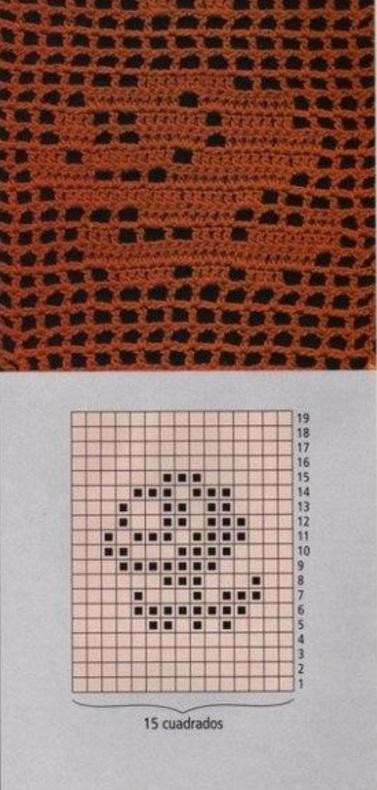 Филейные схемы вязания