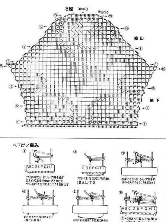 Вязание филейного топа крючком