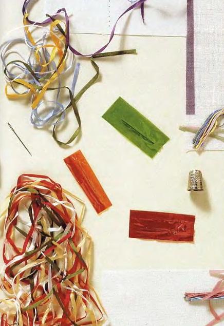 Вышивка лентамиМатериалы и инструменты