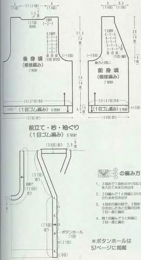 Вязание жилета спицами