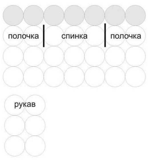 Кардиган из круглых мотивов