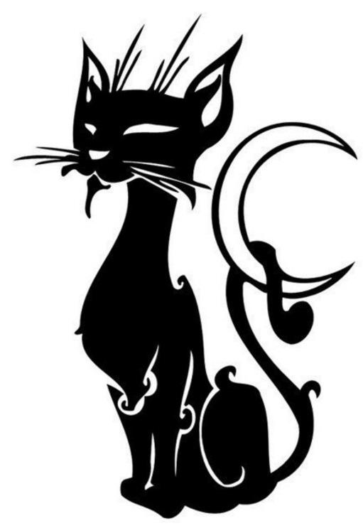 Трафареты кошек на стену