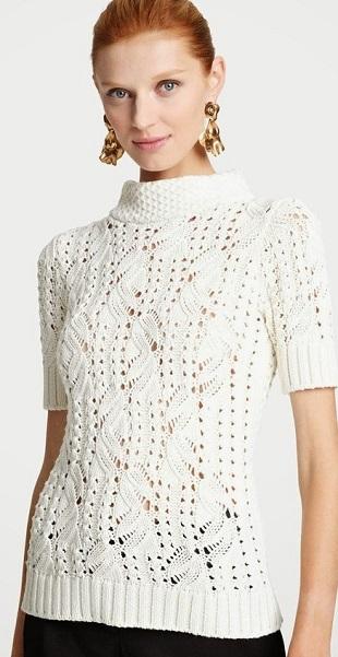 Узорный пуловер спицами