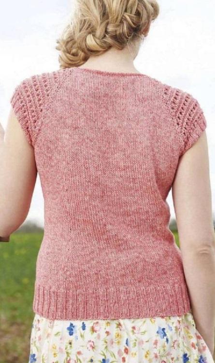 Вязание летнего топа спицами