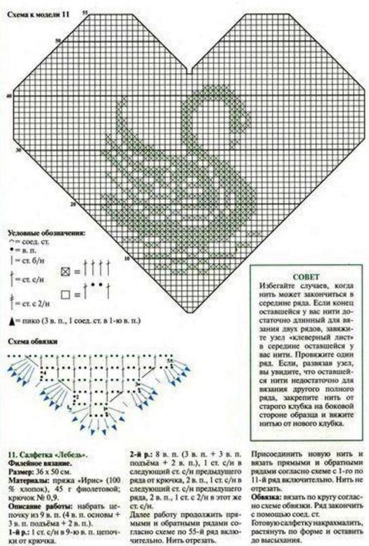 Филейные схемы лебедей