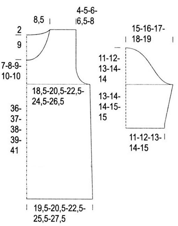 Вязание летнего пуловера