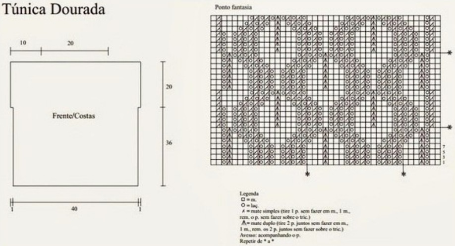 Схема для летней туники