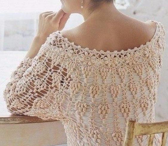 Вязание ажурной кофты