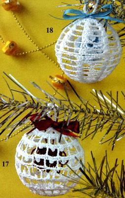 Новогодние шары крючком