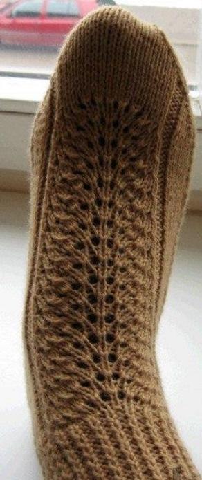 Как связать носки на двух спицах