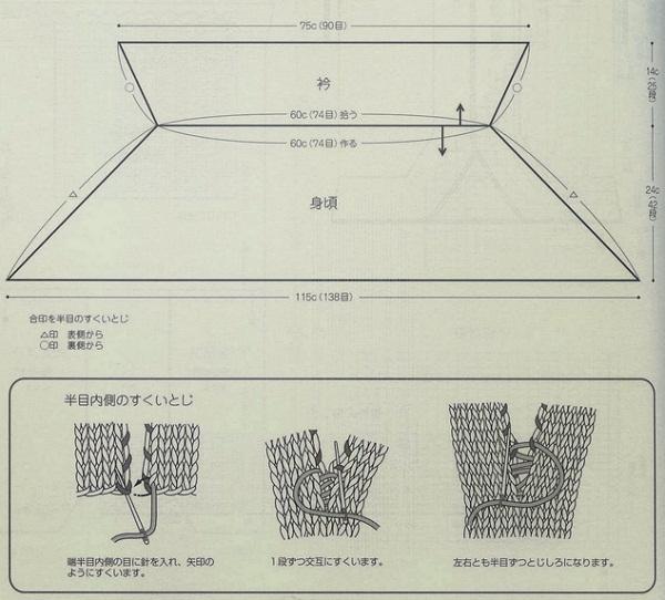 Вязание пелерины спицами