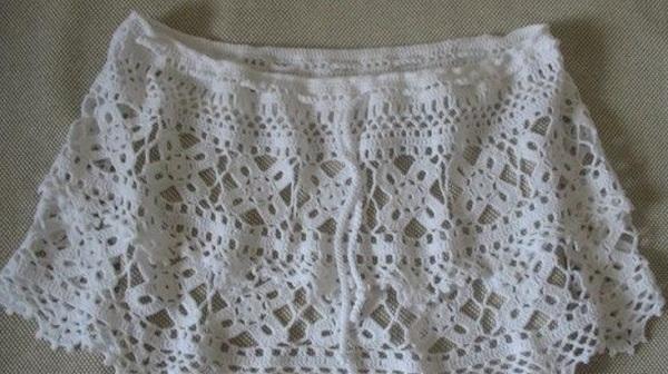 Вязание пляжной юбки крючком