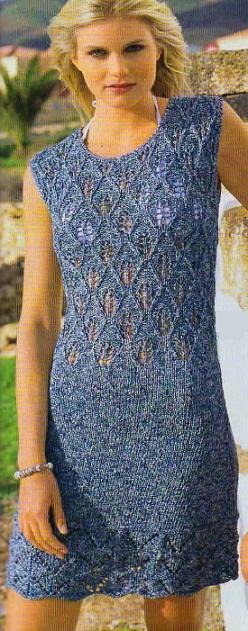Вязание спицами - платье