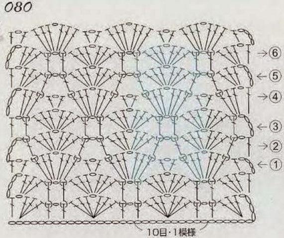 Схема плотного узора