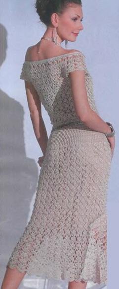 схема вязания платья крючком Vashipupsiru женские секреты