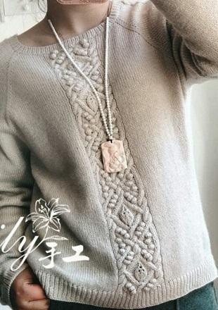 Пуловер спицами 2018
