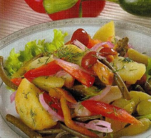 Салат с картофелем и грибами