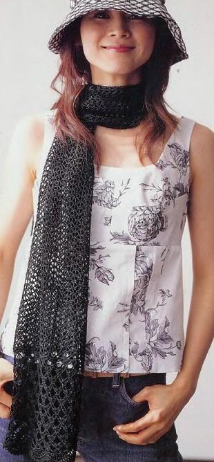 Вязание шарфа крючком