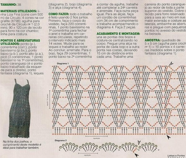 Вязание сарафана крючком