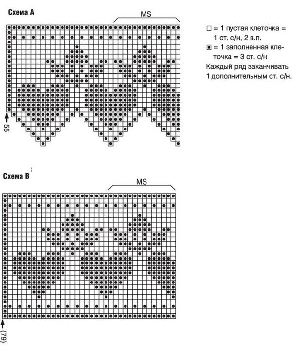 Схемы для занавесок крючком