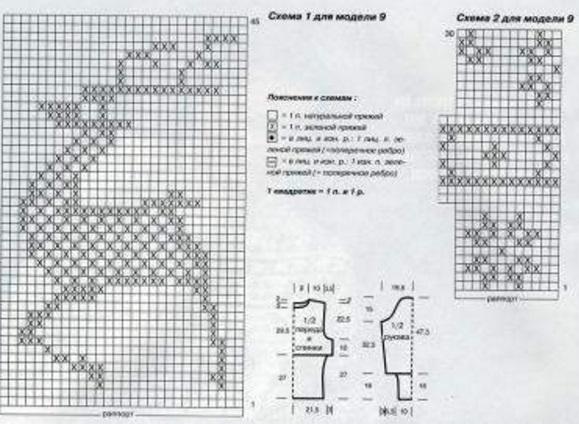 Схемы оленей спицами