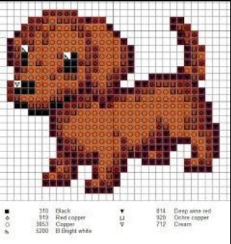 Вышивка - схемы собак