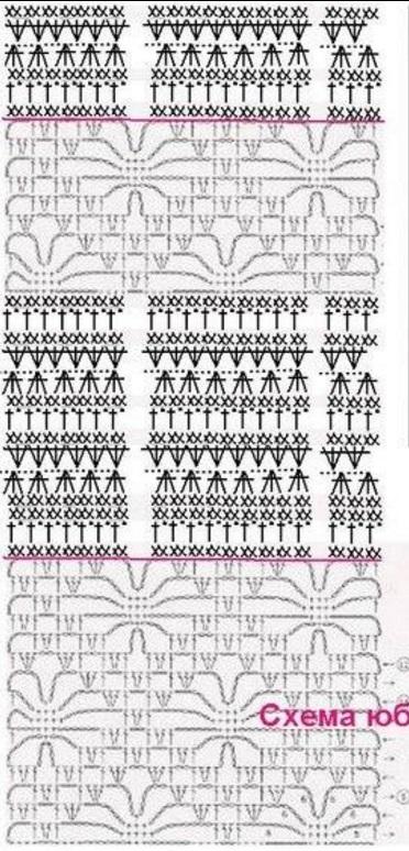 Схемы для вязания юбки крючком