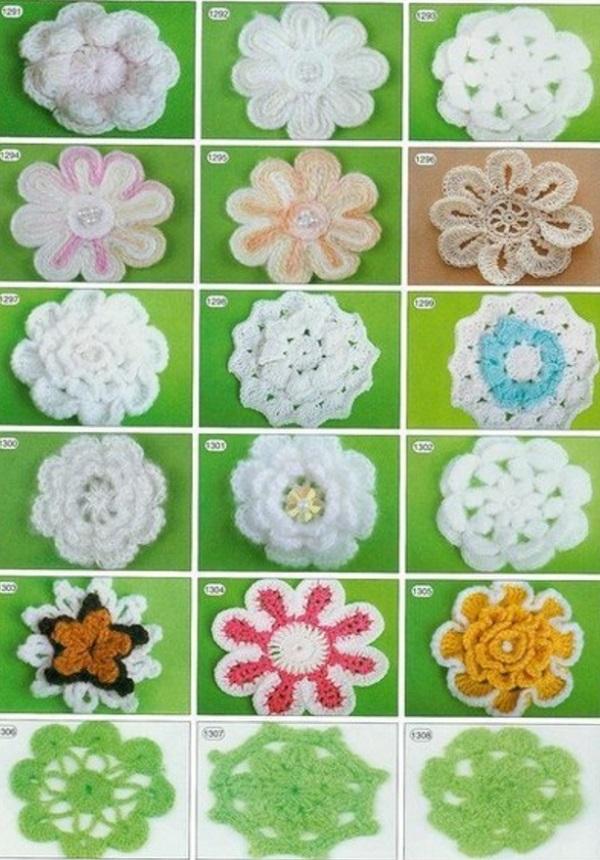 Схемы цветов крючком