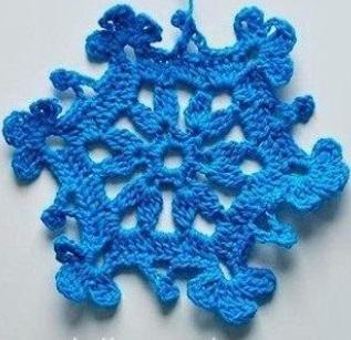 Вязание снежинок крючком