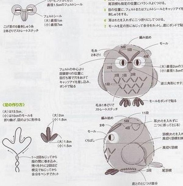 Вязание совы крючком