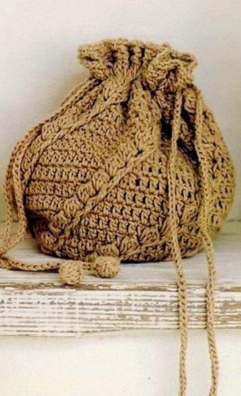 Сумка-рюкзак крючком