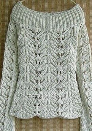Схема для пуловера спицами
