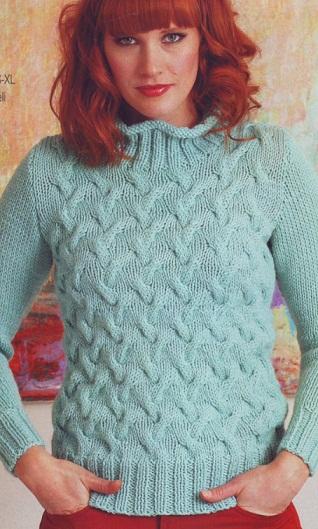 Вязание спицами - свитер