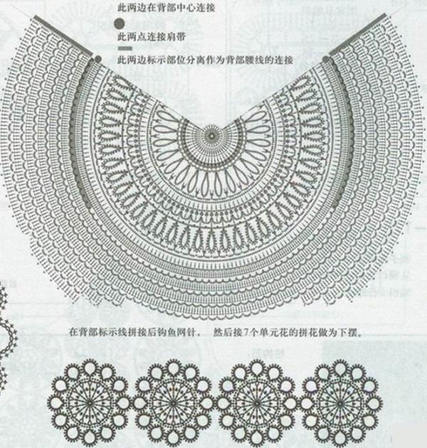 Вязание топика крючком