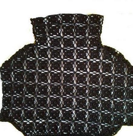 Вязание топа из квадратных мотивов
