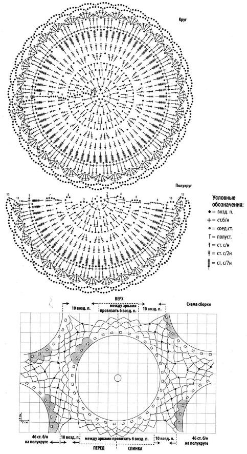 Ажурная туника крючком - схемы