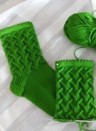Узор для вязания носок спицами