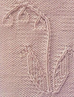 Узоры Листья спицами
