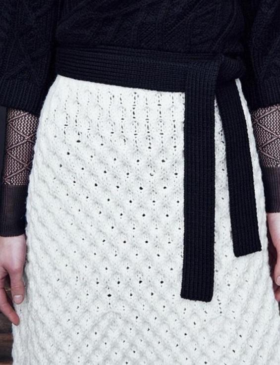 Схема для юбки спицами